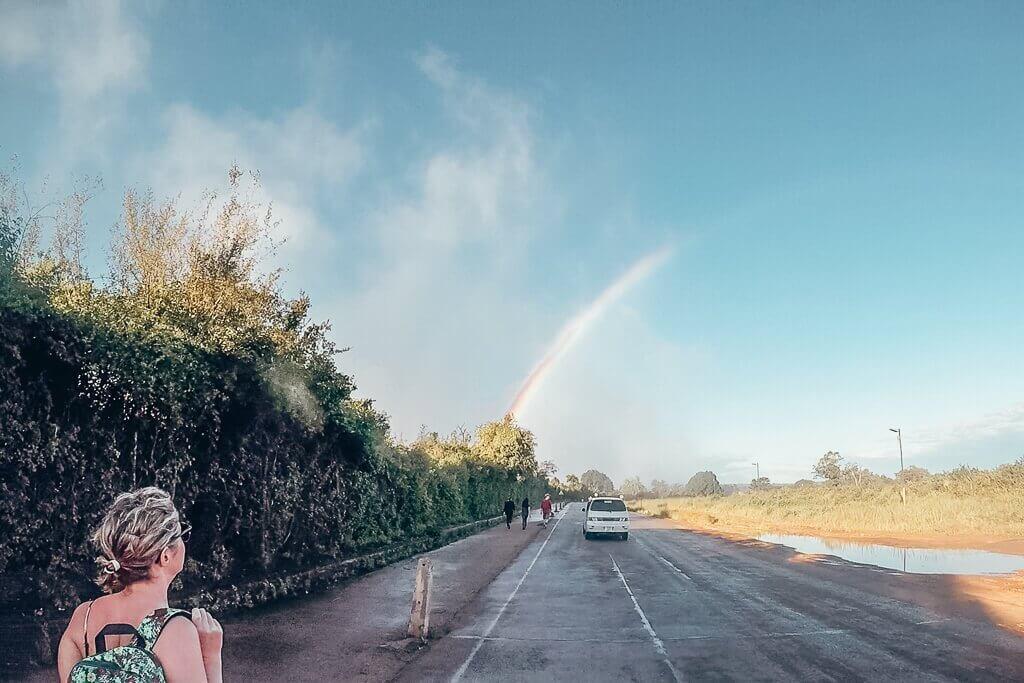 Crossing Victoria Falls Bridge from Zambia to Zimbabwe