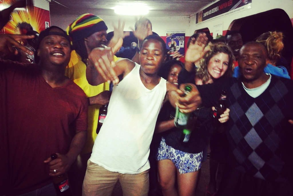 A night out in Victoria Falls township with the locals