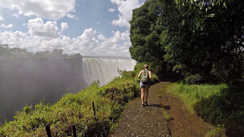 The path leading to some of the best views of Victoria Falls