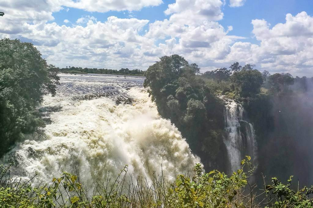 Devils Cataract in Victoria Falls National Park