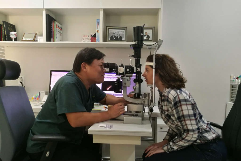 laser eye surgery consultation