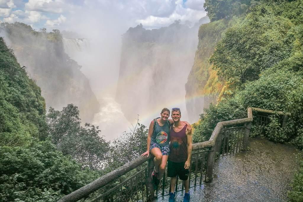 Victoria Falls from Zimbabwe or Zambia