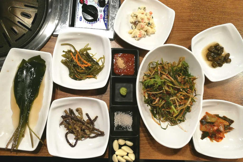 Side dishes are served with all Korean meals