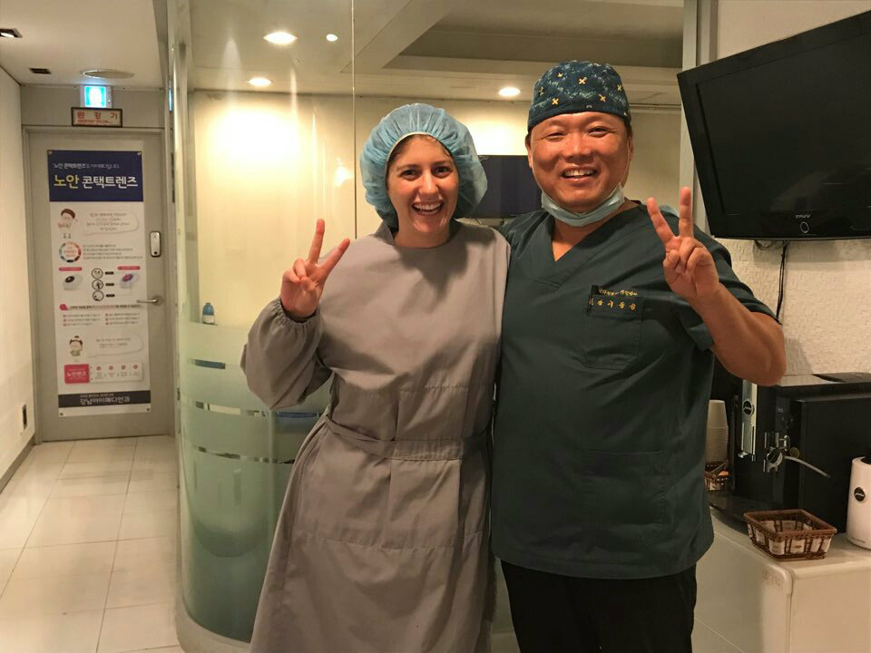 After my successful Lasek surgery with Dr Lee in Korea
