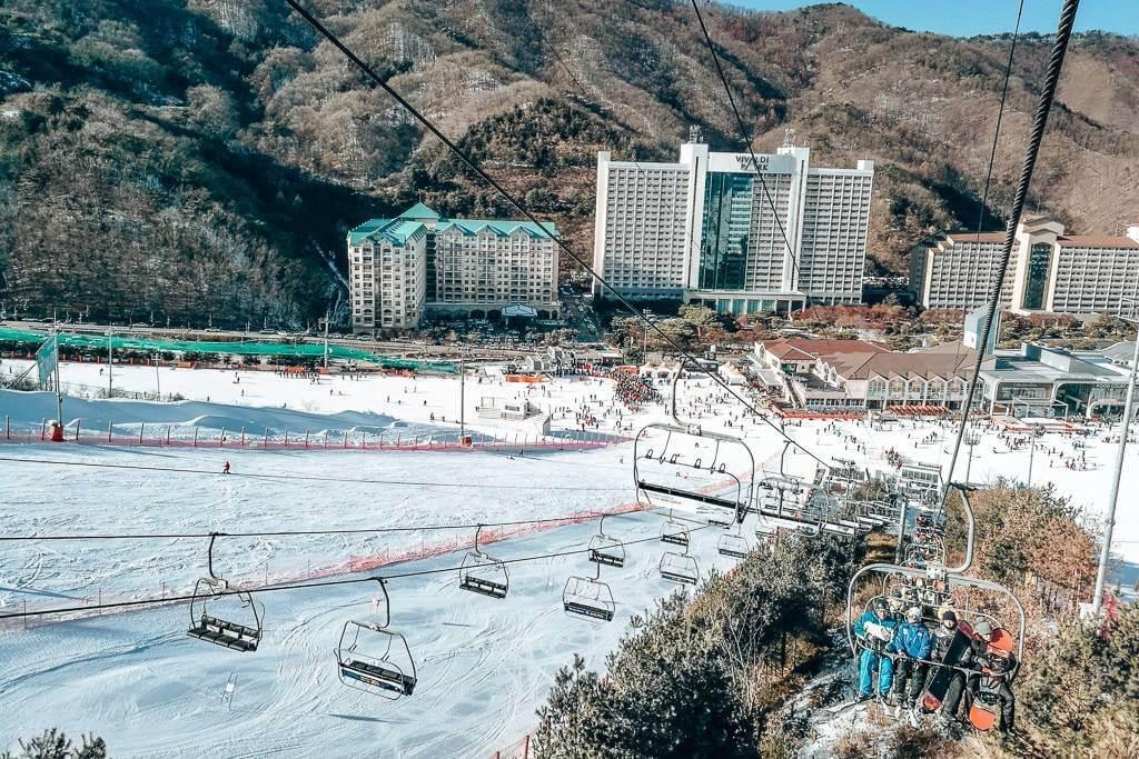 View of Vivaldi Ski Park