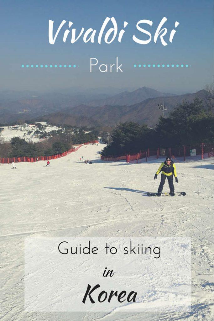Skiing at Vivaldi Ski Park in Korea