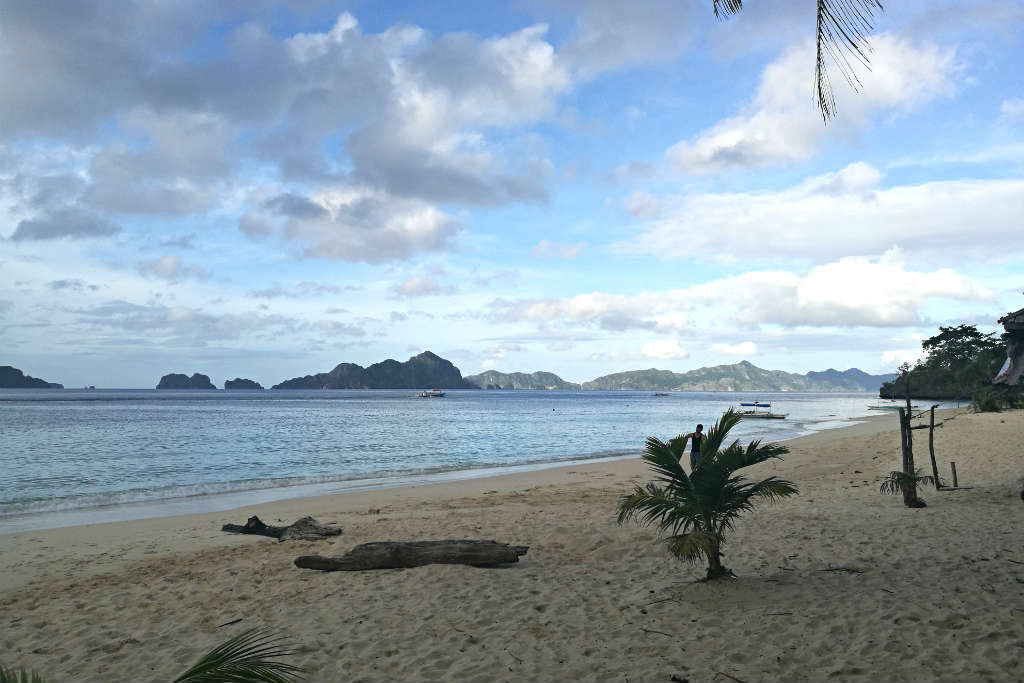 View from 7 Commando Beach, Palawan after an overnight camping trip