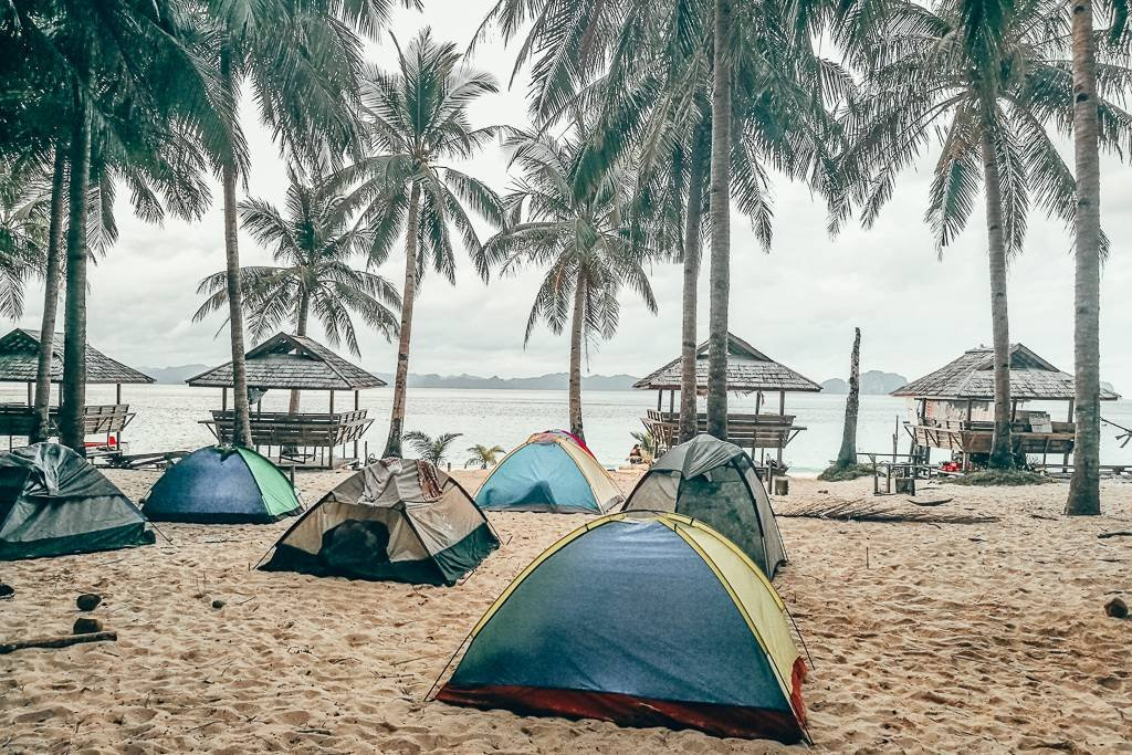 Camping in El Nido is one of the best things to do in Palawan
