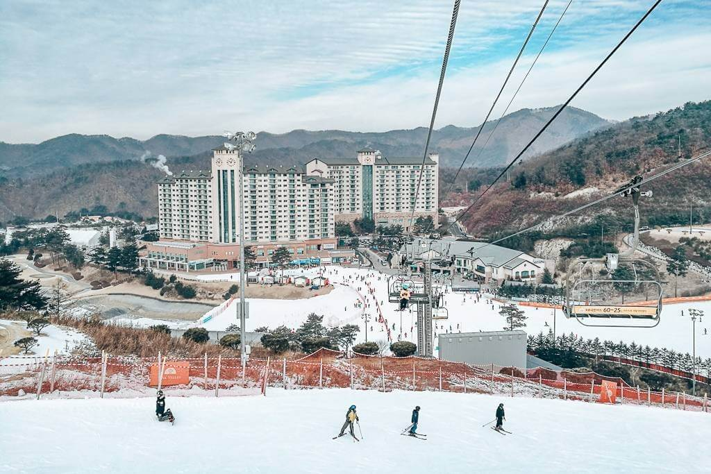 Oak Valley Ski Resort in Korea
