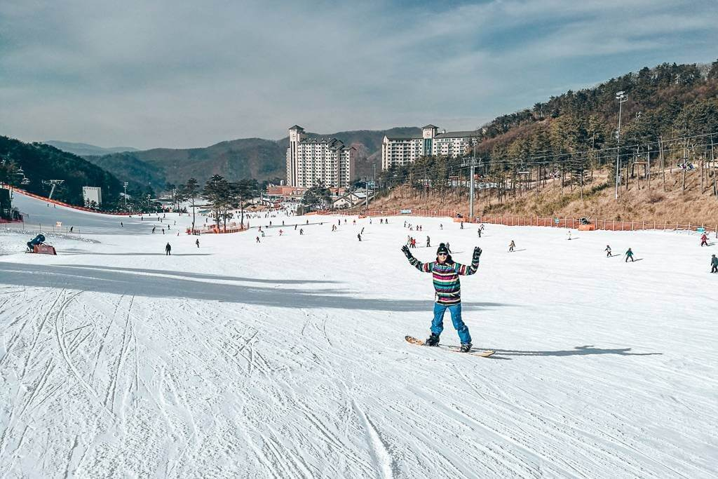 Skiing in Korea
