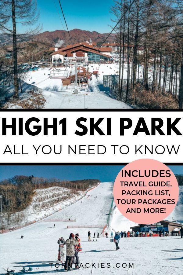 High1 Ski Park in South Korea - Torn Tackies Travel Blog