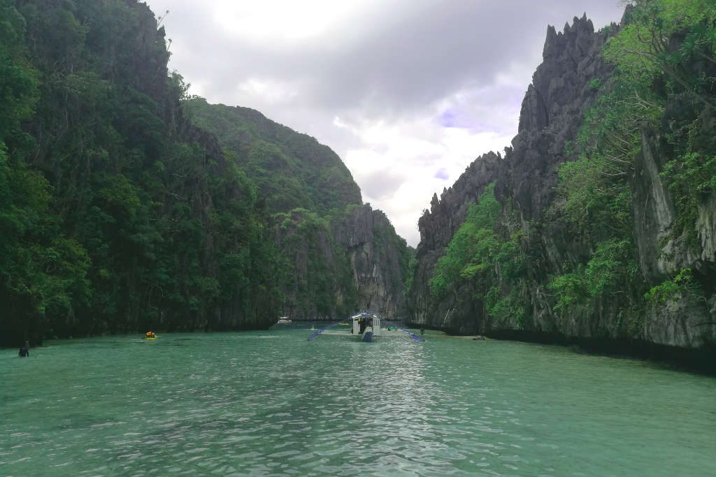 You enter Big Lagoon through a wide, shallow waterway. Another famous lagoon included in EL Nido Tour A.