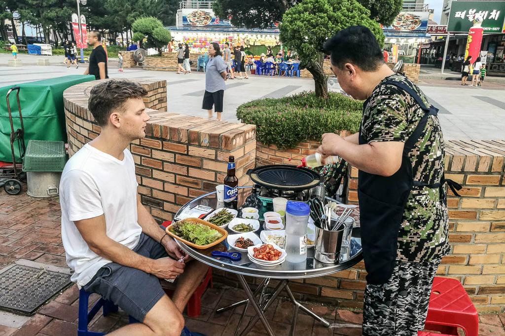 Korean BBQ and food in Korea