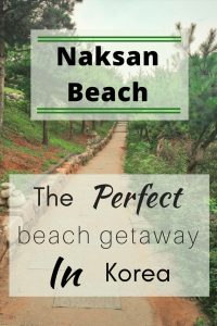 Naksan Beach in Korea