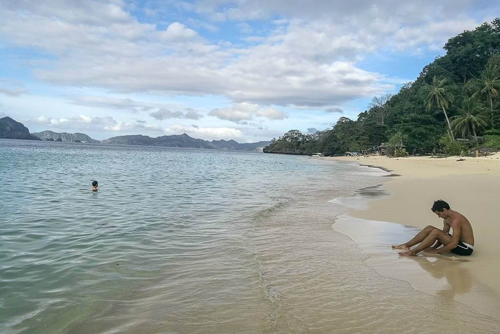 Swimming at Seven Commandos Beach