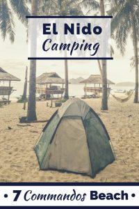 El Nido camping on Seven Commandos Beach in the Philippines