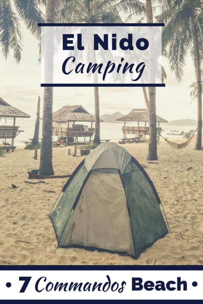 El Nido camping on Seven Commandos Beach in the Philippines