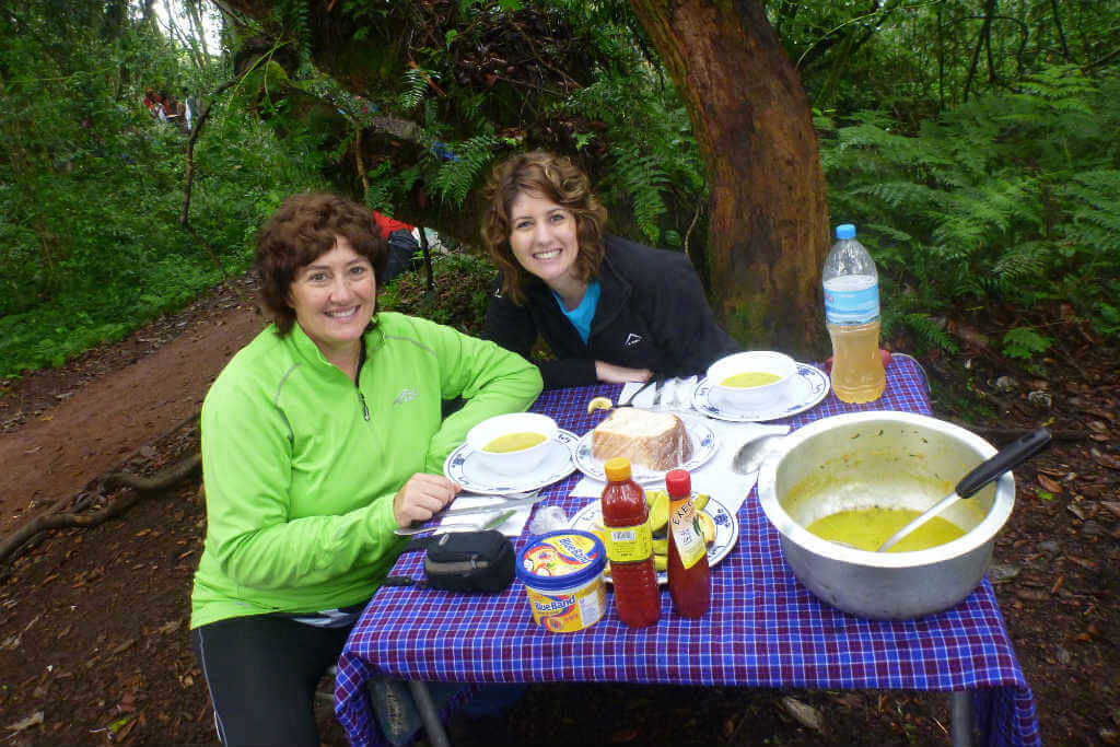 I quite enjoyed our lunch stops in the forest on the first days whilst climbing Kilimanjaro