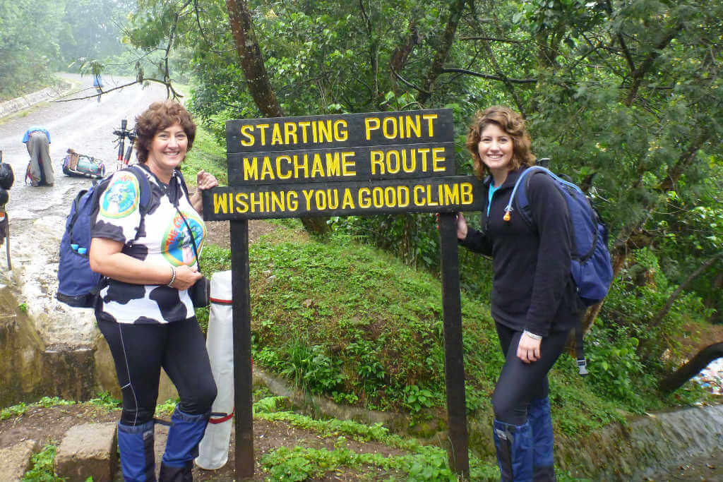 The beginning of our 7 days climbing the Machame route on Kilimanjaro