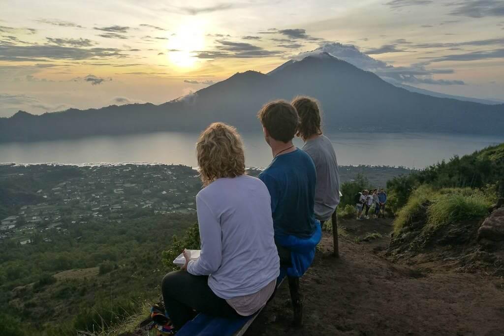 Summit of Mount Batur volcano