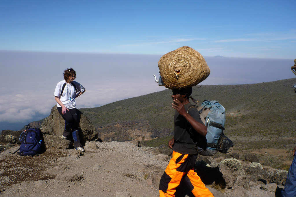 You may have a chance to rest on Mt Kilimanjaro, but the porters won't. Make sure your book through a tour operator that looks after their staff