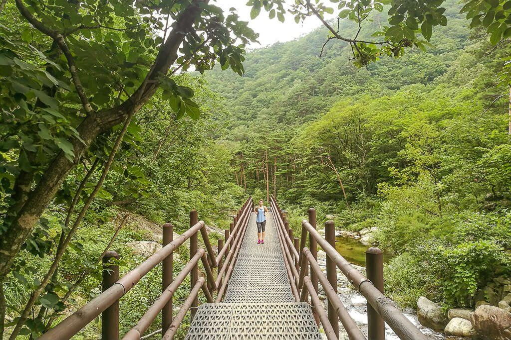 Seoraksan National Park is a short bus drive away from Naksan Beach