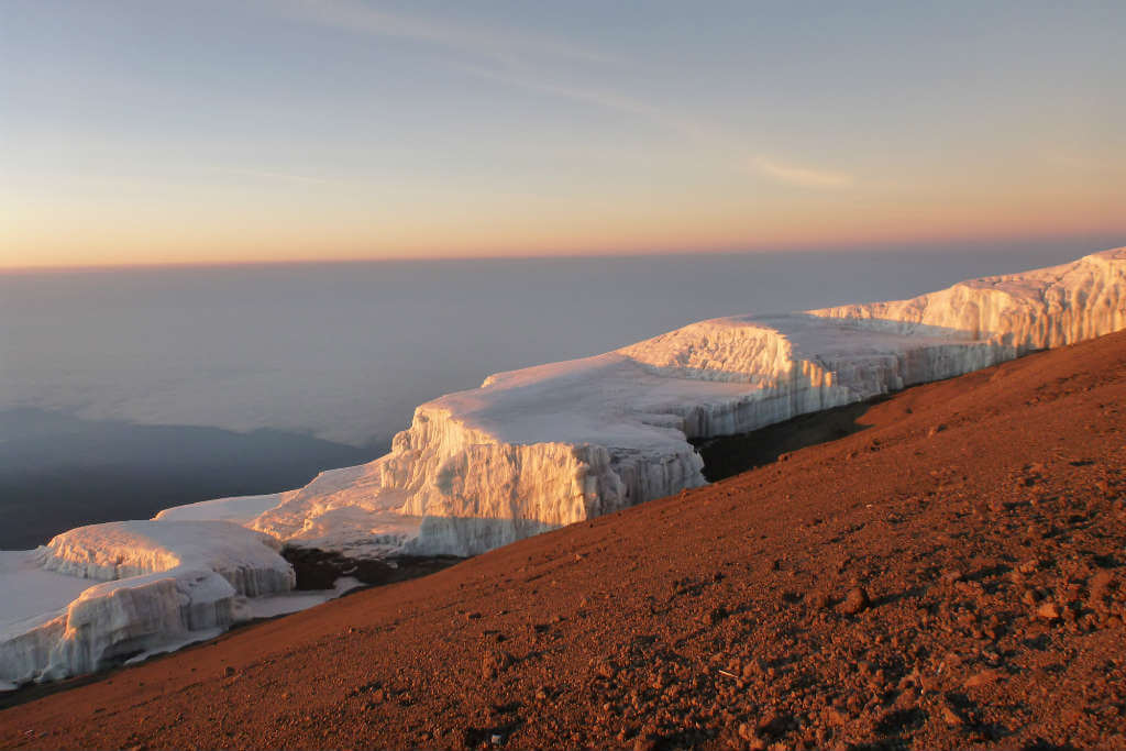 Getting to the top of Mt Kilimanjaro was worth every step, especially with these views