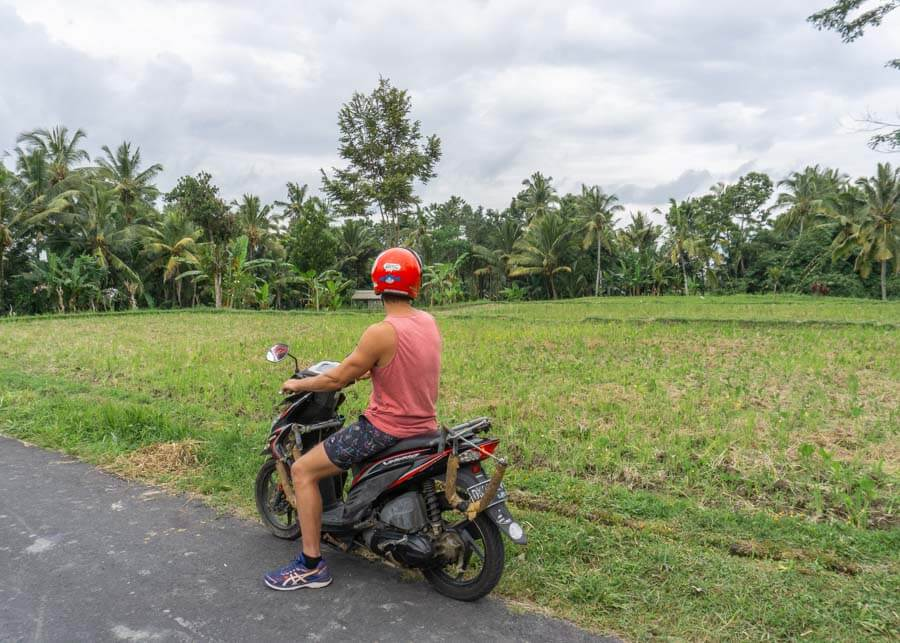 Scooter in Ubud itinerary