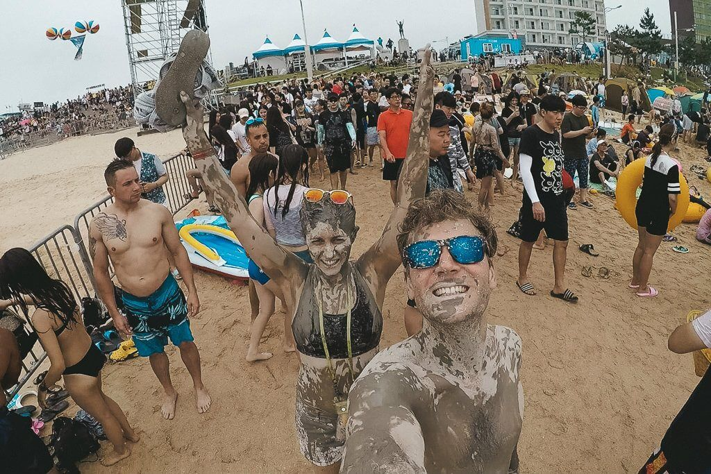 Swimming at Boryeong Mud Festival