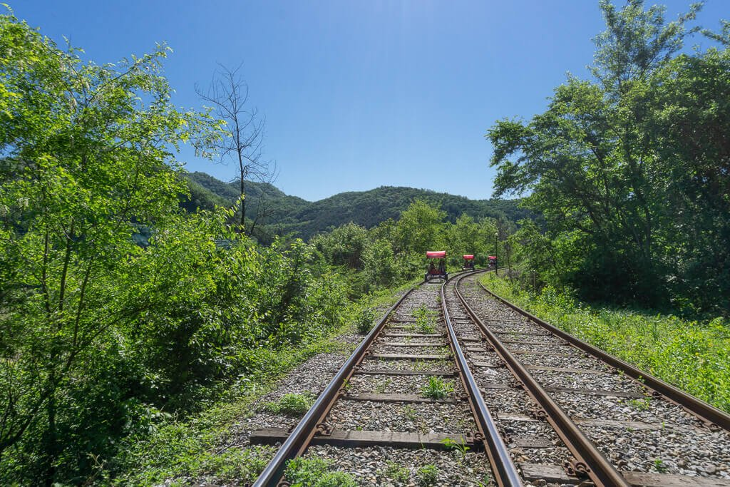 Gangchon Rail Bike and Nami Island