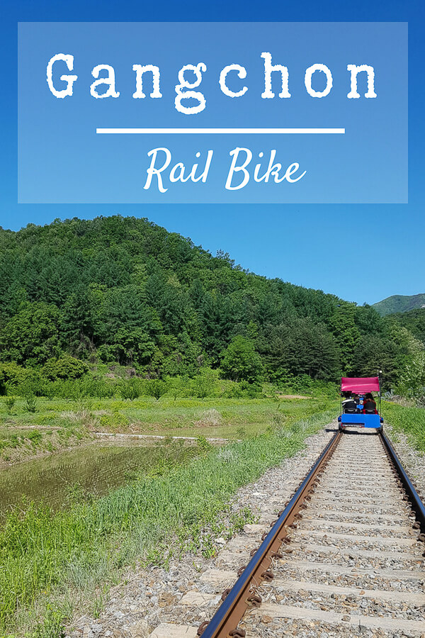 Gangchon Rail Bike in Korea