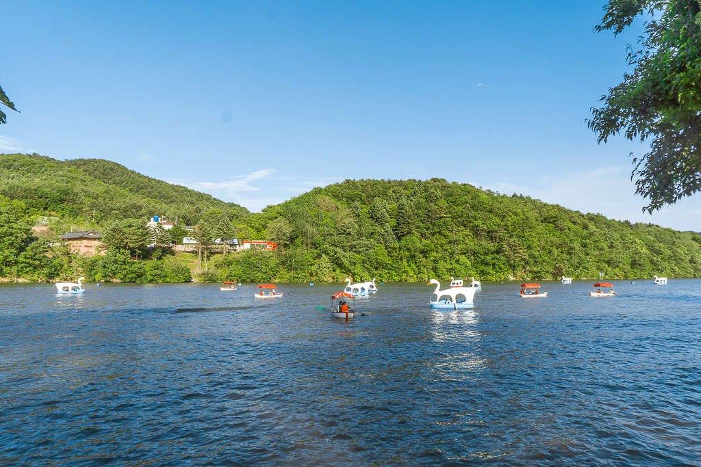 Nami Island water bikes