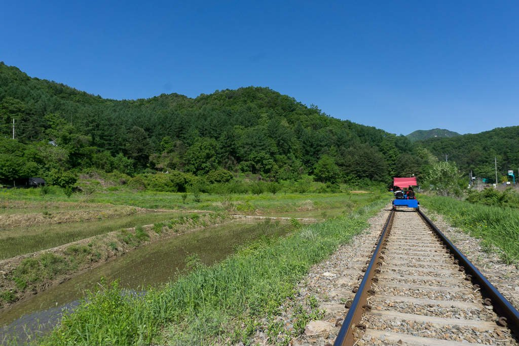 Enjoying the Gapyeong rail park