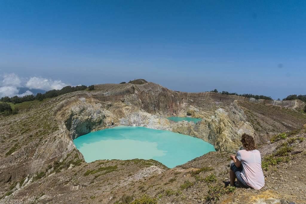 The multi-colored lakes of Kelimutu