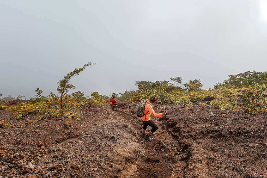 Trekking Mount Inerie is tough