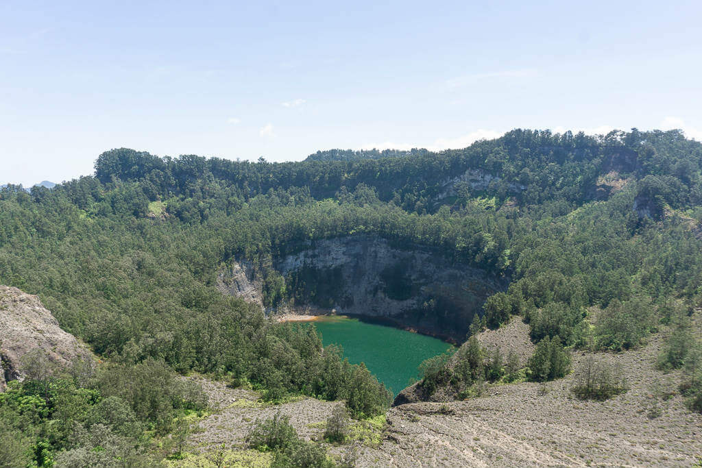 The Lake of Old People on Mount Kelimutu