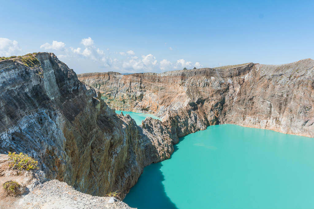 The tri-colored lakes of Kelimutu