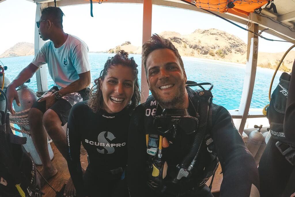 diving in Komodo islands