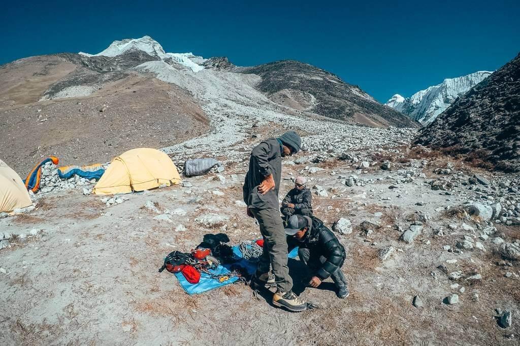 Island Peak climbing clinic