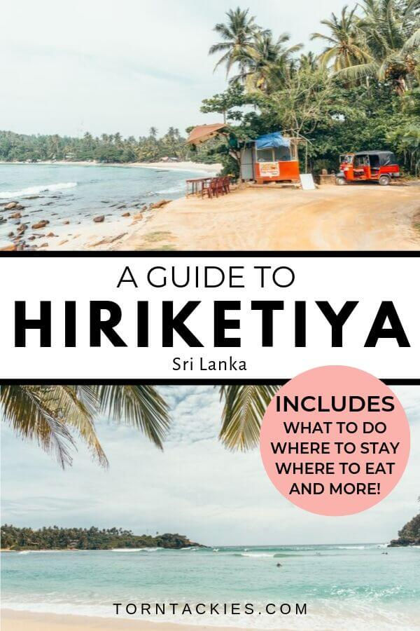 Travel Guide To Hiriketiya Beach in Sri Lanka - Torn Tackies Travel Blog