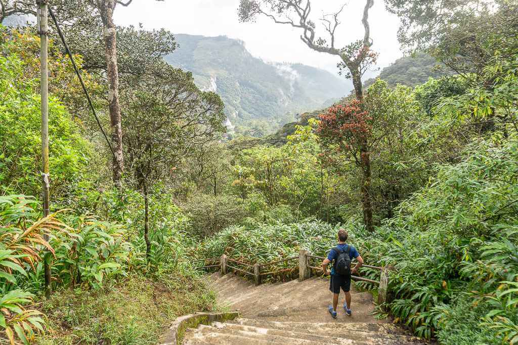 How many steps are there up Adam's Peak?