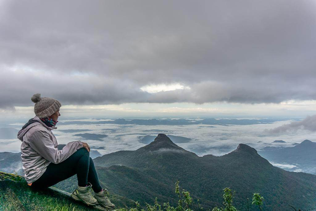 Sitting at the top of Adam's Peak