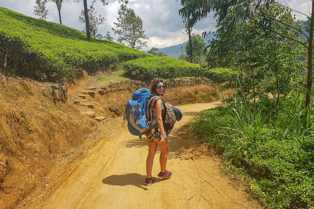 Walking from Hatton to Dalhousie in Sri Lanka