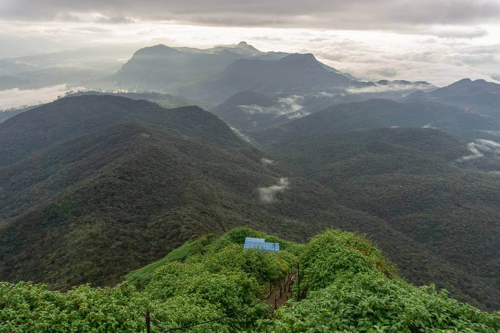The view of Dalhousie, Sri Lanka from Adam's Peak