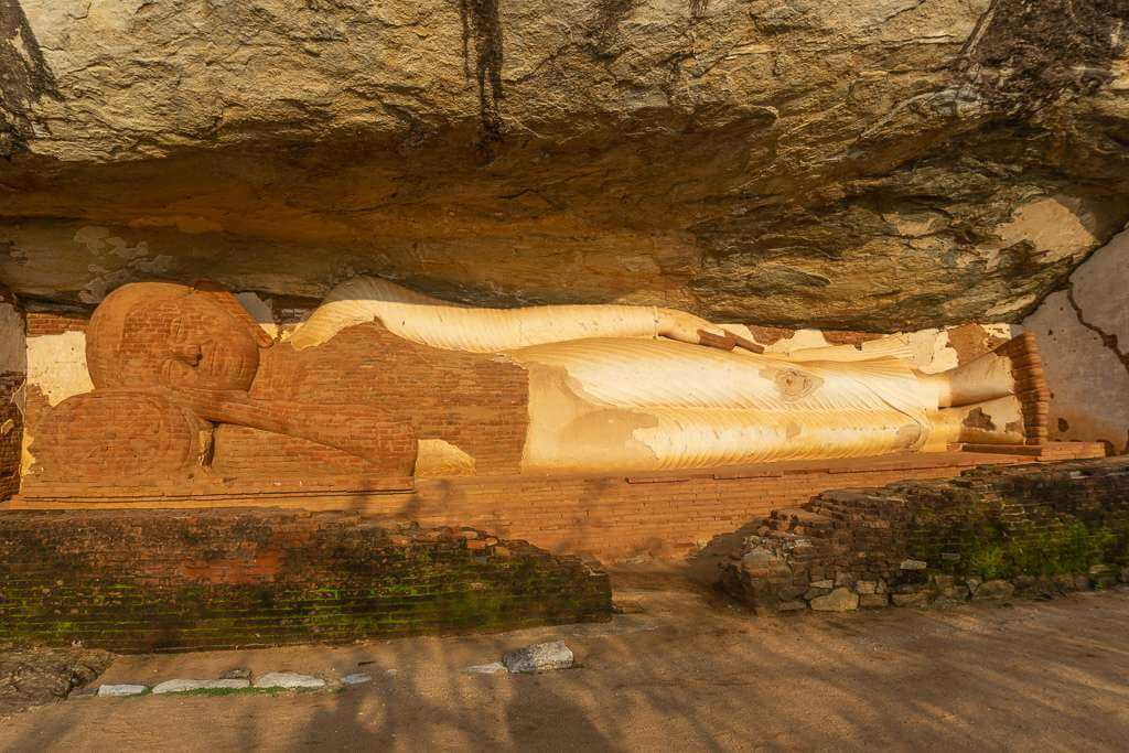The reclining Buddha near the top of Pidurangala Rock