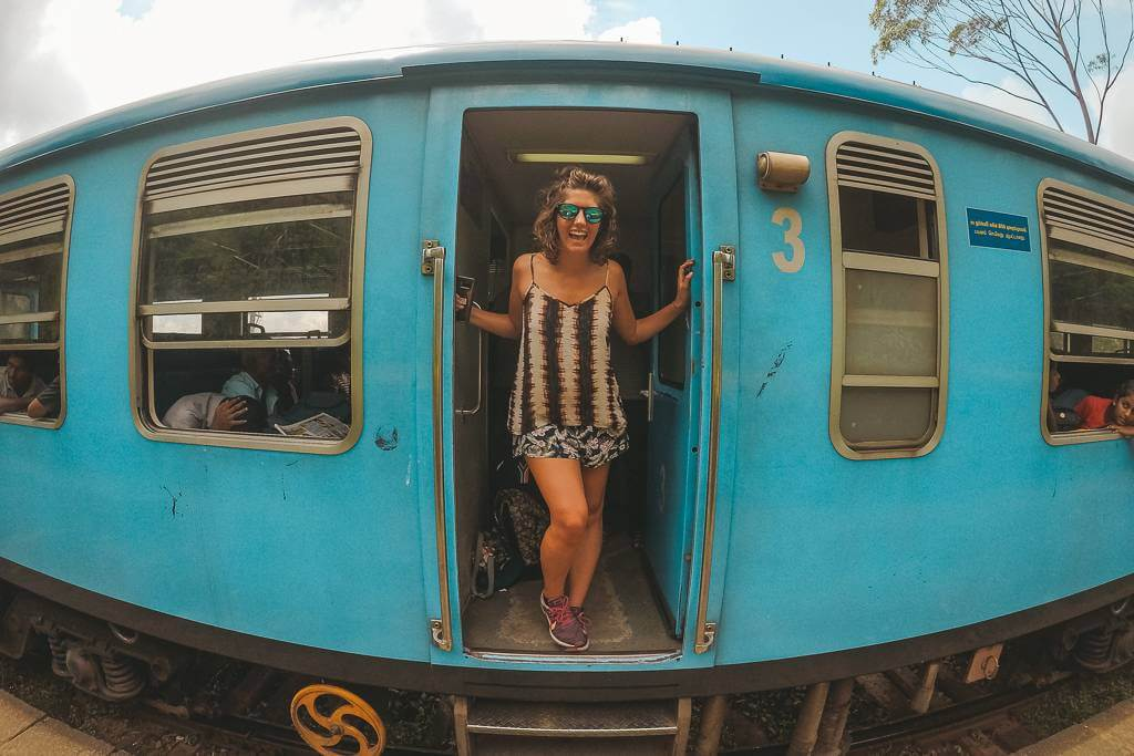 Taking the train from Kandy to Hatton