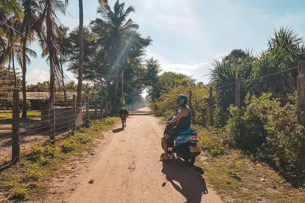 Riding around Nilaveli in Trincomalee