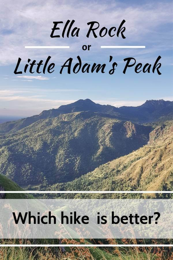 Ella Rock or Little Adam's Peak in Sri Lanka