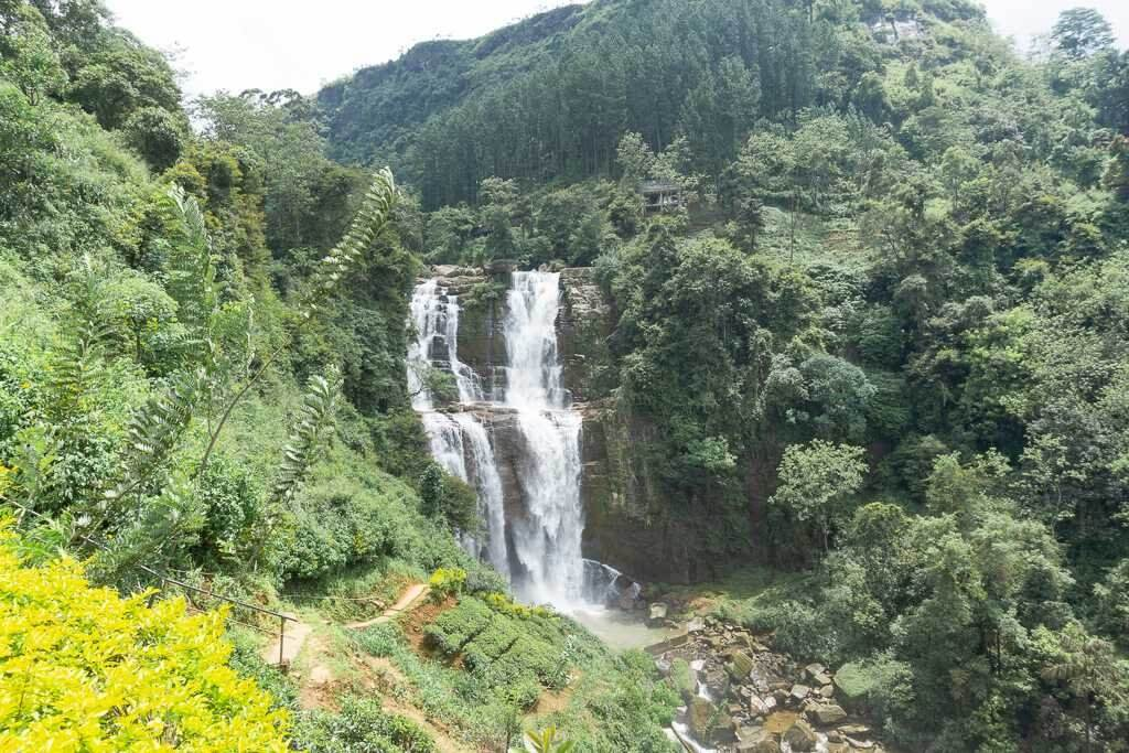 Ramboda Waterfall from Ramboda Falls Hotel