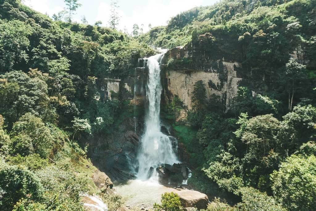 Ramboda Waterfall in Nuwara Eliya